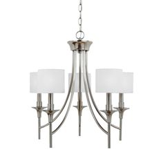 Sea Gull Lighting Stirling Brushed Nickel Transitional Chandelier at Lowe's. The Sea Gull Lighting Stirling five light single tier chandelier in brushed nickel is an ENERGY STAR® qualified lighting fixture that uses Fabric Chandelier, 3 Light Chandelier, Bronze Chandelier, Modern Chandelier, Bath Fixtures, Ceiling Fixtures, Ceiling Lights, Room Lights, Transitional Chandeliers
