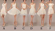 Wholesale Bridesmaid Dresses - Buy 6 Styles New Cheap Elegant Special Halter Knee Length Bridesmaid Dresses /Wedding Party Dresses, $46.3 | DHgate