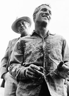 "Paul Newman | Cool Hand Luke | 1967 ""What we have here, is failure to communicate."" Amazing actor and best looking man that ever lived followed by Cary Grant."