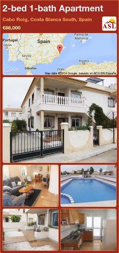 2-bed 1-bath Apartment in Cabo Roig, Costa Blanca South, Spain ►€88,000 #PropertyForSaleInSpain