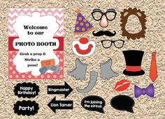 digital Circus Carnival photo booth props  by redmorningstudios, $8.99