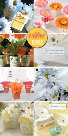 Daisy wedding theme - via Brenda's Wedding Blog.