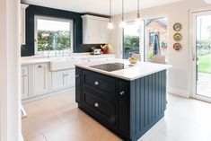 Hague Blue Kitchen, Small Rooms, Small Spaces, Handmade Dressers, Inchyra Blue, Oval Room Blue, Borrowed Light, Stiffkey Blue, Cornforth White