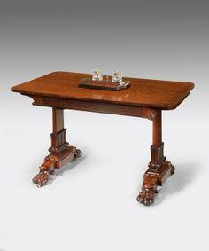 A Regency mahogany writing table  Circa: 1820