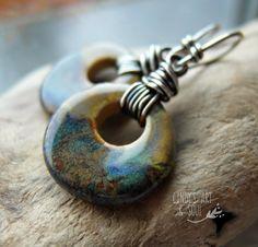Earrings Everyday: Azure Lake Ceramic Circle Earrings
