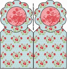 Shabby Chic Red Roses on Celestial Background: Free Printables for Parties.