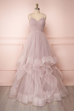 Pink Tulle A Line Prom Dress ,Charming Prom Gown,Tulle Party Gown,Layered Evening Dresses - 2020 New Prom Dresses Fashion - Fashion Of The Year Lavender Prom Dresses, Sweet 16 Dresses, A Line Prom Dresses, Tulle Prom Dress, Grad Dresses, Formal Evening Dresses, Elegant Dresses, Pretty Dresses, Homecoming Dresses
