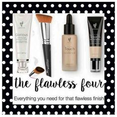 Flawless four  ☄Glorious face and eye primer ☄Foundation brush ☄Touch mineral liquid foundation ☄Touch mineral concealer