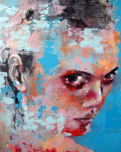 "Saatchi Online Artist thomas donaldson; Painting, ""9-14-13 head"" #art"