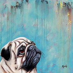 Working artist selling my paintings while being represented in many galleries across the country. Black Lab Puppies, Dogs And Puppies, Terrier Puppies, Bull Terriers, Bulldog Puppies, Boston Terrier, Baby Pugs, Pug Art, Architecture Tattoo