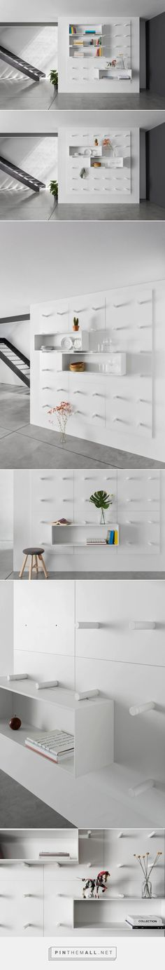 Dots: A Modular Storage Wall by ARIS Architects - Design Milk - created via http://pinthemall.net