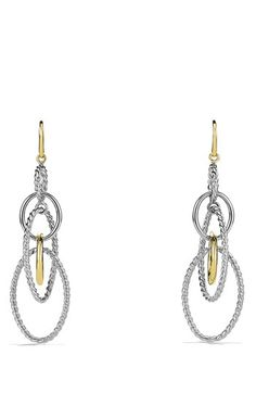 f0fbeade4e89 David Yurman  Mobile  Large Link Earrings with Gold