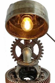 Industrial Lighting   Steampunk Lamp   Loft Lamp   Vintage Lamp   Rustic  Lamp   Edison Light   Pipe Lamp   Desk Lamp   Industrial Lamp