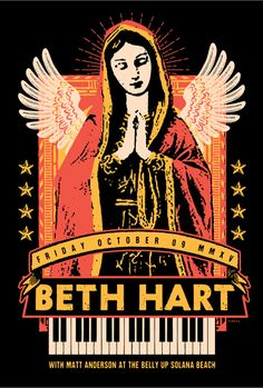 Gig posters, flyers and handbills from around the world! Rock Posters, Music Posters, Concert Posters, Beth Hart, Matt Anderson, Pop Musicians, Halloween Items, Janis Joplin, Blues Rock