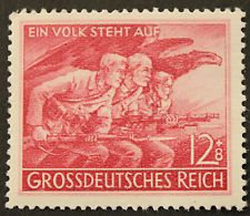 Nazi Germany 1945 People's Army stamp fully gummed