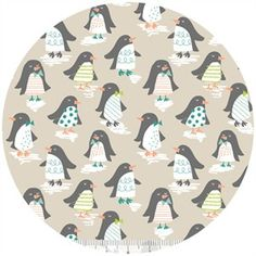 Penguin Parade by Blend Fabrics - Yard - Maude Asbury - Penguin Fabric - Quilt Fabric - Pink Fabric - Holidays Pink and Gray Fabric by Owlanddrum on Etsy Noel Christmas, Pink Christmas, Christmas Fabric, Christmas Decor, Modern Fabric, Grey Fabric, Penguin Parade, Tent Fabric, Pottery Painting
