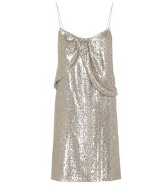Saint Laurent Sequin-embellished Silk Dress | MYTHERESA USA saved by #ShoppingIS