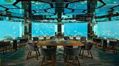 Unterwasser Restaurant-Anantara Kihavah Resort Malediven