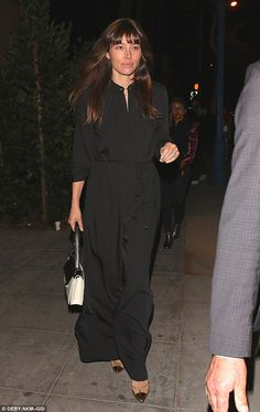 It's party time! Jessica Biel let her hair down as she enjoyed a girls' night out on the t...