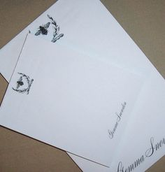 ...another Napleonic Bee item   Shop: HappyHound  item:  Napoleonic Bee Wreath Handmade Monogrammed Notepads