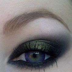 eye makeup for prom maybe? My dress is blue with flakes of gold.