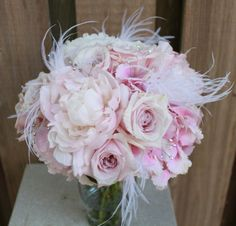 Hilton Head Wedding Florist: A Floral Affair Weddings - bouquet with feathers