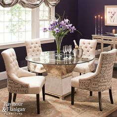 Shaking up the traditional matched dining set is a great way to personalize your dining room. The flexibility of mixing and matching gives you balance between eclectic and pulled together.  Shop this room.