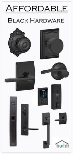 Black door hardware is a simple way to clean up the look of your entry way and hallways. The Matte finish is perfect for that modern farmhouse look you need to finalize.