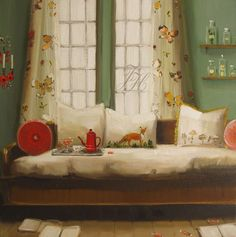 Janet Hill, Black Walnut Manor Collection, The Fox In The Bed