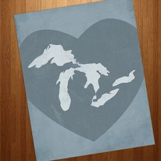 gorgeous Great Lakes interpretation.  I might try and re-create this on canvas.