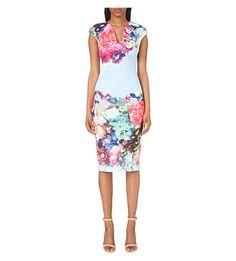 TED BAKER Focus Bouquet Neoprene Dress. #tedbaker #cloth #dresses