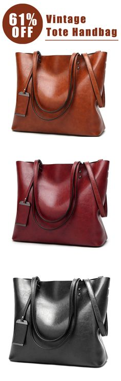 61%OFF&Free shipping. Oil Leather, Tote Handbags, Vintage, Shoulder Bags, Capacity, Shopping Bag, Crossbody Bags. Color: Black, Brown, Burgundy, Beige. Shop now~