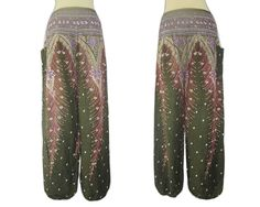 Plus Size Peacock PantsBoho Pants Summer Pants by SissaFashions, $15.00