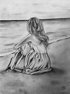 63 Super Ideas For Art Sketches Pencil Easy Girl Drawing Sketches, Pencil Sketch Drawing, Sad Drawings, Dark Art Drawings, Girly Drawings, Pencil Art Drawings, Drawing Tips, Tattoo Sketches, Drawing Ideas