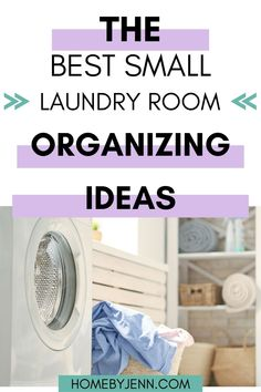 Get inspired to organize your laundry room with these laundry room organization ideas. #laundryroom #laundry #organizing #organize #organizingideas via @homebyjenn Laundry Basket Storage, Laundry Room Organization, Organization Ideas, Organizing, Small Laundry Rooms, Laundry Room Design, Declutter Home, Decluttering, Laundry Sorting