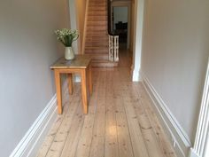 Old Baltic Pine Lime: White coats Finish Porters Clear Cote Satin Pine Wood Flooring, Pine Floors, Timber Flooring, Hardwood Floors, Flooring Ideas, Wood Floor Finishes, Floor Stain, Parquetry Floor, Sand Floor