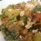 kale, quinoa, avo salad