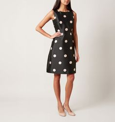 Buy Hobbs Shannon Dress, Black/Camelia Pink from our Women's Dresses range at John Lewis & Partners. Nice Dresses, Dresses For Work, Best Wedding Guest Dresses, Hobbs, Dress Suits, Out Of Style, Classic Looks, Going Out, Dressing