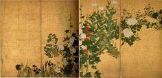 夏草図屏風,尾形光琳,18th century,Japan