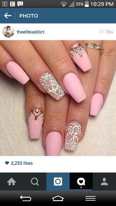 Baby Pink Matte Nails