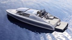 """Mercedes partnered with renowned yacht maker Silver Arrow Marines to create the dazzling yacht. The concept is called the Mercedes-Benz Granturismo and is referred to as the """"Silver Arrow of the Seas"""". Fast Boats, Speed Boats, Yacht Design, Boat Design, Super Yachts, Mercedes Benz, Yacht World, Monaco Yacht Show, Grand Luxe"""