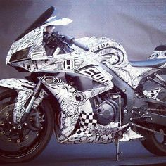 Honda CBR600 Custom Paint Job