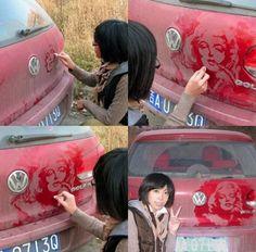 Fancy - Dirty Car Art by Tamara Navarro