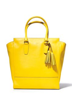 Style.com Accessories Index : fall 2012 : Coach | neon yellow tote