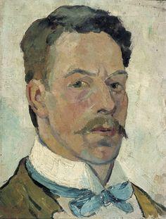 theo can doesburg, self portret, Een eerste aanwijzing hoezeer Van Doesburg onder de indruk was van Kandinsky is een zelfportret uit 1913