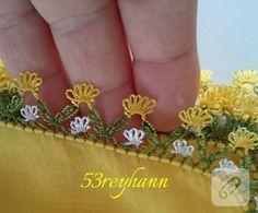 igne-oyasi-yazma-kenari-12 Crochet Borders, Crochet Stitches, Crochet Patterns, Baby Embroidery, Point Lace, Needle Lace, Knitted Shawls, Lace Design, Knitting Socks