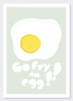 Items similar to Go fry an egg - - - art print and illustration by Sophia Georgopoulou on Etsy Daily Thoughts, Fries, Editorial, Eggs, Art Prints, Handmade Gifts, Illustration, Happy, Inspiration