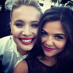 Danielle Campbell and Leah Pipes