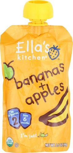 Ella's Kitchen Baby Food - Apples Bananas - Case Of 12 - 3.5 Oz.