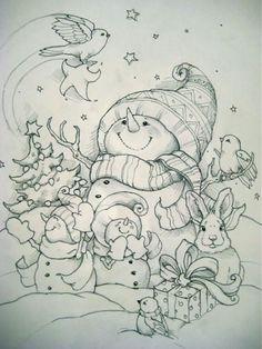 Snowman & Friends